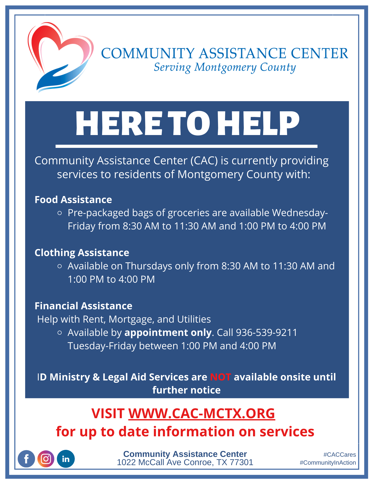 CAC is Here to Help 082020