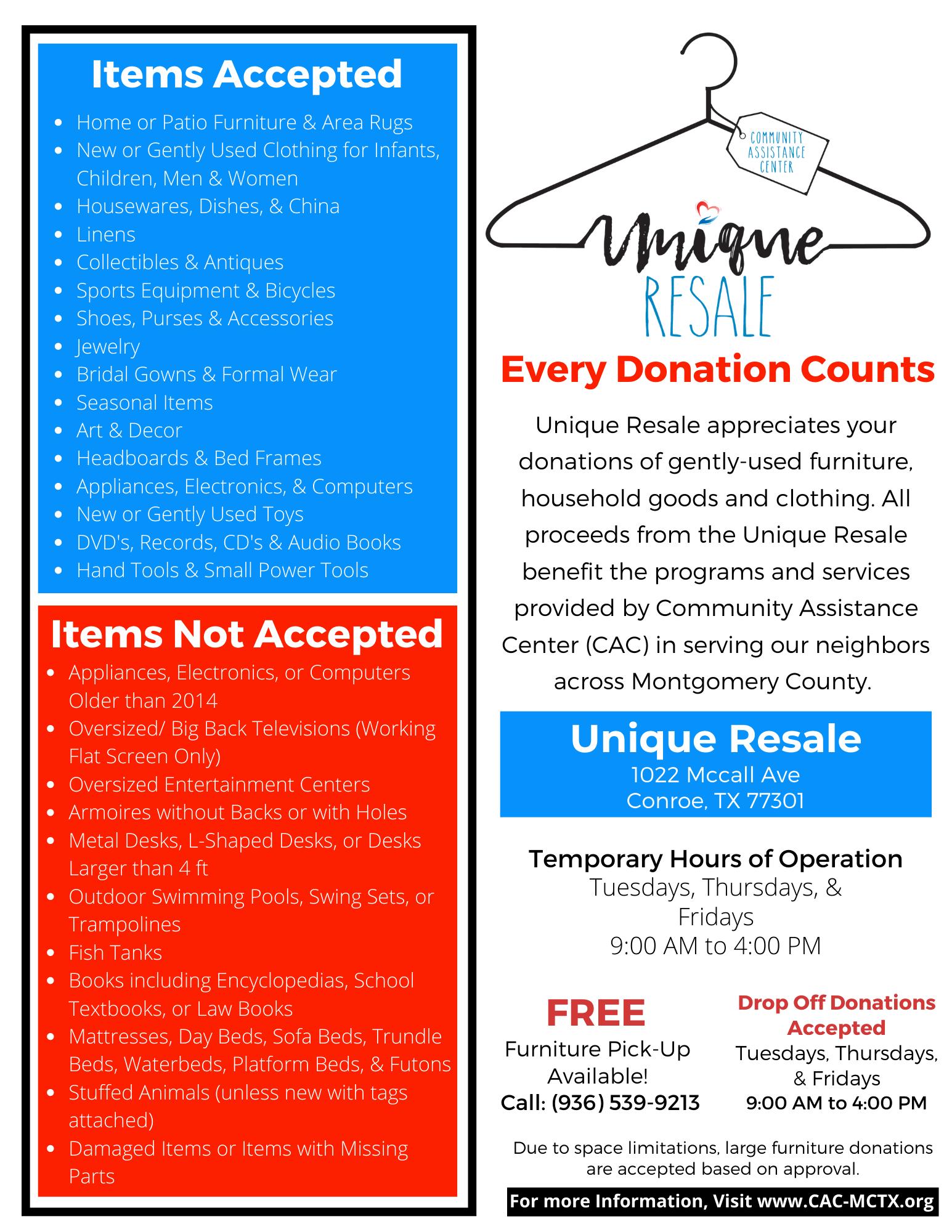 Unique Resale Donation Flyer-T (1)