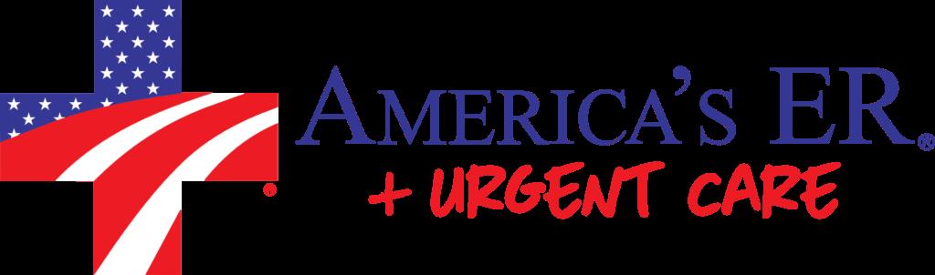 AER Urgent Care Logo & Logotype Horizontal (white filled in)
