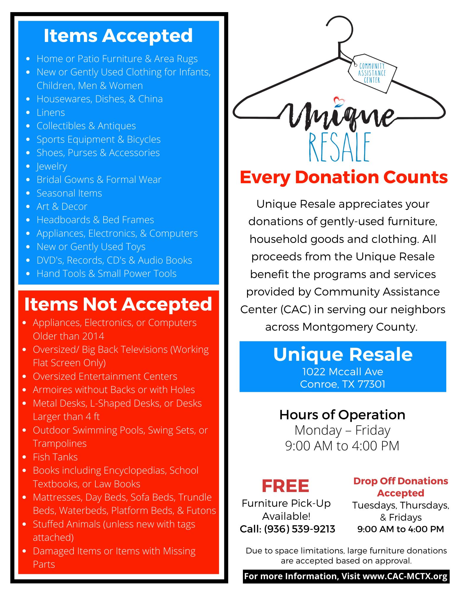 Unique Resale Donation Flyer-T (2)