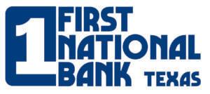 First National Bank Texas [Blue - No Tag]